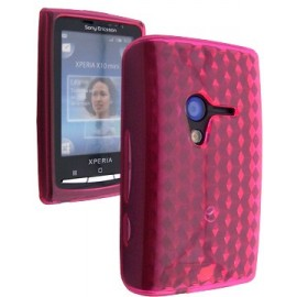 Coque Sony ericsson x10 mini diamant rose