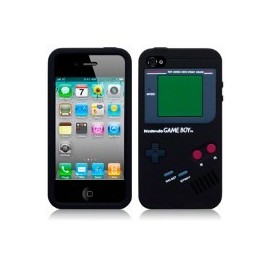 Coque iphone 4 Game boy noir