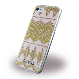 Coque iPhone 7  / iphone 8 Guess 3D Effect Aztec Tribal Rose