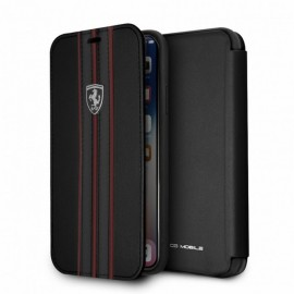 Etui iphone X Ferrari urban collection folio cuir noir