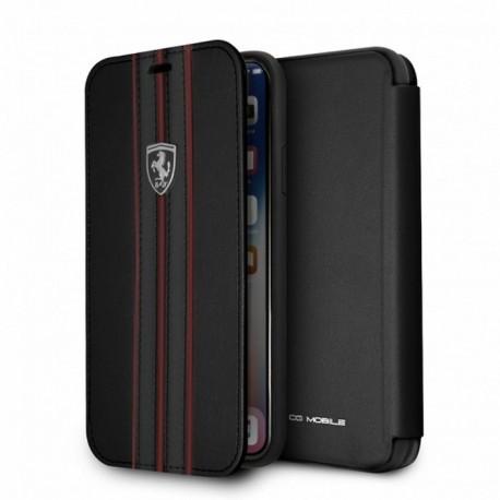Etui iphone X Ferrari urban collection folio cuir noir