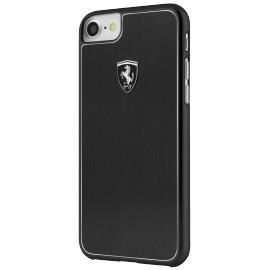 Coque iphone 7 / iphone 8 Ferrari Heritage Aluminium noire