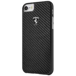 Coque iphone 7 / iphone 8 Ferrari Heritage carbone noire