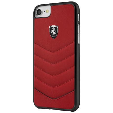 Coque iphone 7 / iphone 8 Ferrari Heritage cuir rouge