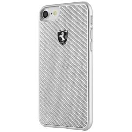 Coque iphone 7 plus / iphone 8 plus Ferrari Heritage carbone gris