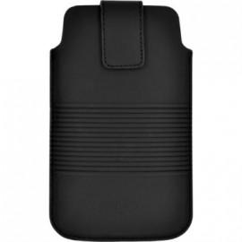 Pouch up taille XL en cuir noir Jean Paul Gaultier