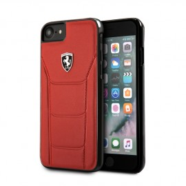 Coque Apple iPhone X Ferrari Heritage 488 cuir rouge