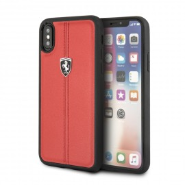 Coque Apple iPhone X Ferrari Heritage cuir rouge