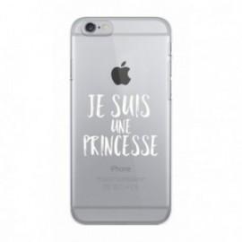 Coque iPhone 6/6S  Wording Je suis une princesse