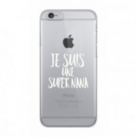 Coque iPhone 6/6S  Wording Je suis une super nana