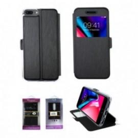 Folio Iphone 6+/7+/8+ stand vision noir