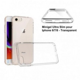 Coque iphone 6/7/8 minigel transparente