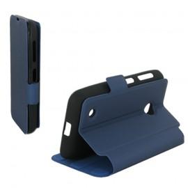 Etui Nokia Lumia 530 folio bleu nuit stand