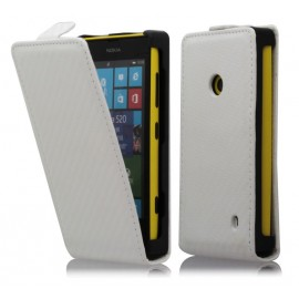 Etui Nokia lumia 520 / lumia 525 carbone blanc