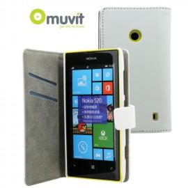 Etui Nokia lumia 520 / 525 folio blanc Muvit