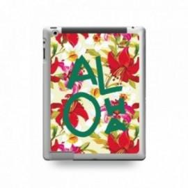 Coque IPAD 2/3/4 motif Aloha Vert