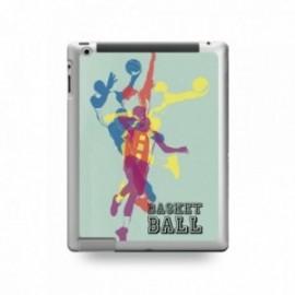 Coque IPAD 2/3/4 motif Basket Ball Fond Vert
