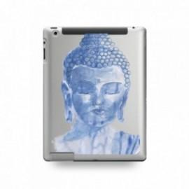 Coque IPAD 2/3/4 motif Buddha Bleu