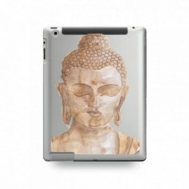 Coque IPAD 2/3/4 motif Buddha Marron