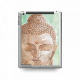 Coque IPAD 2/3/4 motif Buddha Marron Fond Vert