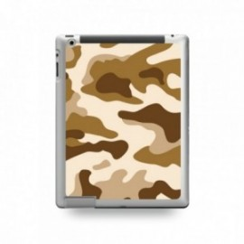 Coque IPAD 2/3/4 motif Camouflage Marron