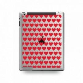 Coque IPAD 2/3/4 motif Coeurs Rouge