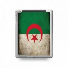 Coque IPAD 2/3/4 motif Drapeau Algérie Vintage