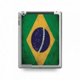 Coque IPAD 2/3/4 motif Drapeau Brésil Vintage