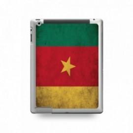 Coque IPAD 2/3/4 motif Drapeau Cameroun Vintage
