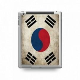 Coque IPAD 2/3/4 motif Drapeau Corée Du Sud Vintage
