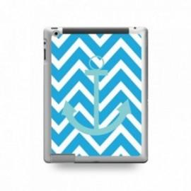 Coque IPAD MINI 1/2/3 motif Bleu Ciel Sur Fond Bleu Turquoise