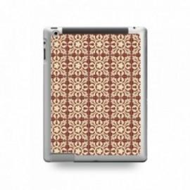 Coque IPAD MINI 1/2/3 motif Carreaux De Ciment Décor Normandie Marron