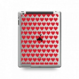 Coque IPAD MINI 1/2/3 motif Coeurs Rouge