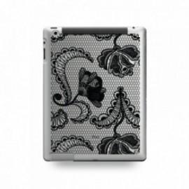 Coque IPAD MINI 1/2/3 motif Dentelle Fleurs Noire