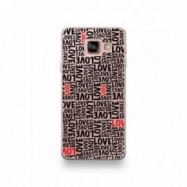 Coque Wiko View Prime motif Typographie Love Noir Et Rouge
