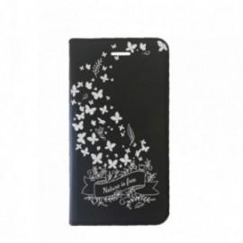 Etui Iphone 5/5S/SE Folio motif Envolée de Papillons