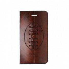 Etui Motorola E4 PLUS Folio motif Ballon de rugby