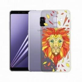 Coque Samsung A8 2018 Crystal Bump Lion orange
