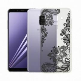 Coque Samsung A8 2018 Crystal Dentelle