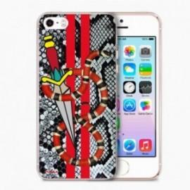 Coque Iphone 5/5S/SE Crystal Dague Serpent