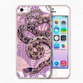 Coque Iphone 5/5S/SE Crystal Serpent violet