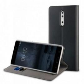 Muvit Etui Nokia 8 Folio Stand Noir