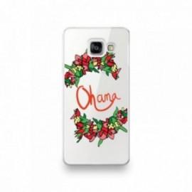 Coque Iphone 5/5S/SE motif Ohana orange fleuri
