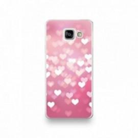 Coque Iphone 5/5S/SE motif Coeurs rose