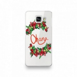 Coque Wiko Wim motif Ohana orange fleuri