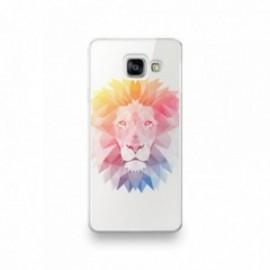Coque Wiko Wim motif Lion géométrique multicolor
