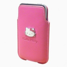 Etui iphone 4S vertical rose Hello kitty