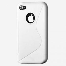 Coque silicone iPod Touch 4 Bi-Matières blanche