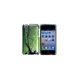 Coque iPod touch 4 rigide avant / arrière verte motif