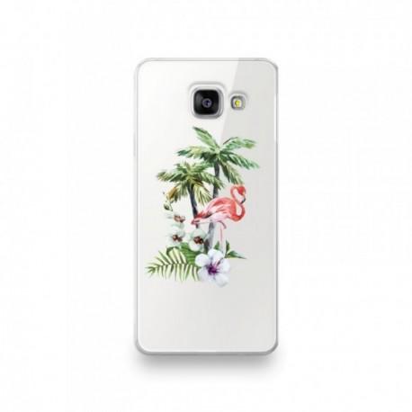 Coque Nokia 8 motif Flamant Rose Tropical